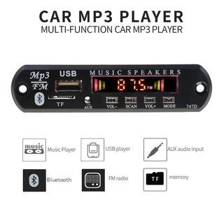 Módulo Reproductor Mp3 Bluetooth Usb Sd Aux Control Remoto