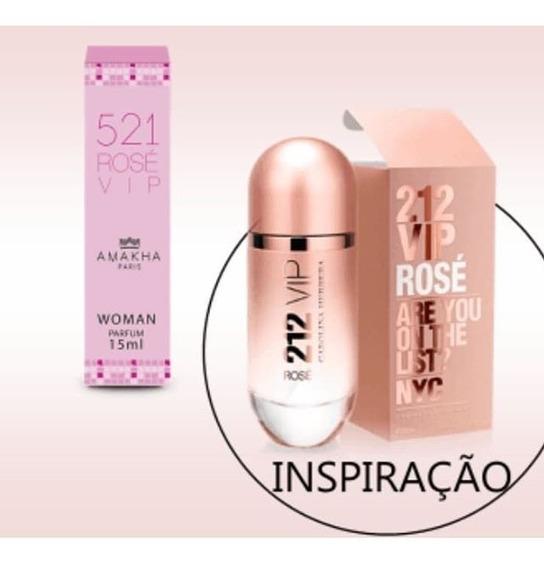 Perfume Original 521 Vip Rose! Feminino Perfume De Bolso.