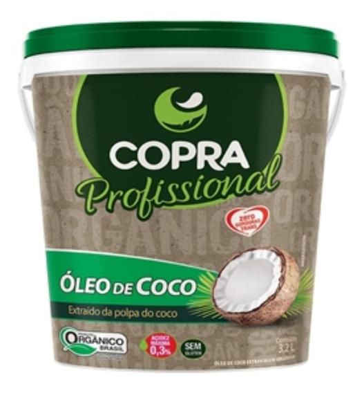 Óleo De Coco Extra Virgem Orgânico Balde 3,2l - Copra