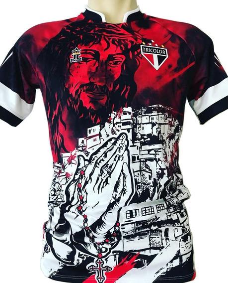 Camisa/camiseta Terço Tricolor Referência São Paulo Spfc Sp