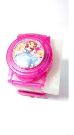 Relógio Infantil Princesinhas Disney Musiquinha Led Barato
