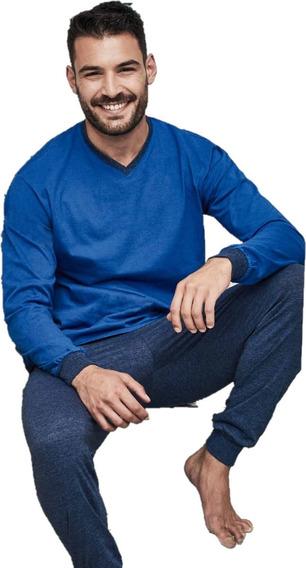 Pijama Tipico 891 De Jersey Esc V Pantalon Con Puño Hombre