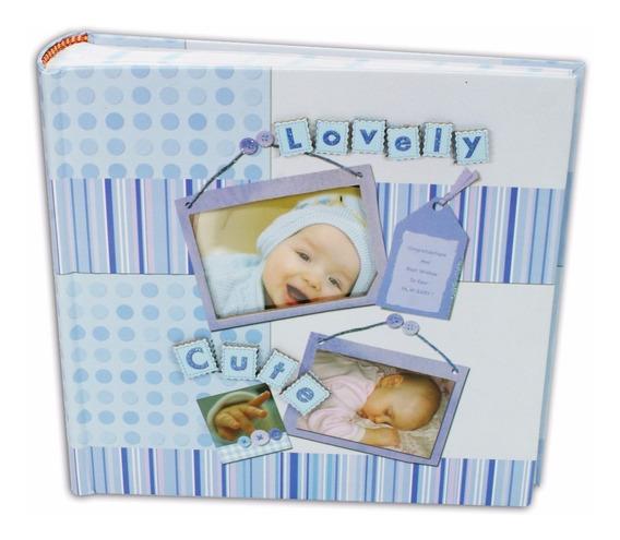 Álbum Para Bebê Masculino Importado Para 100 Fotos 15x21