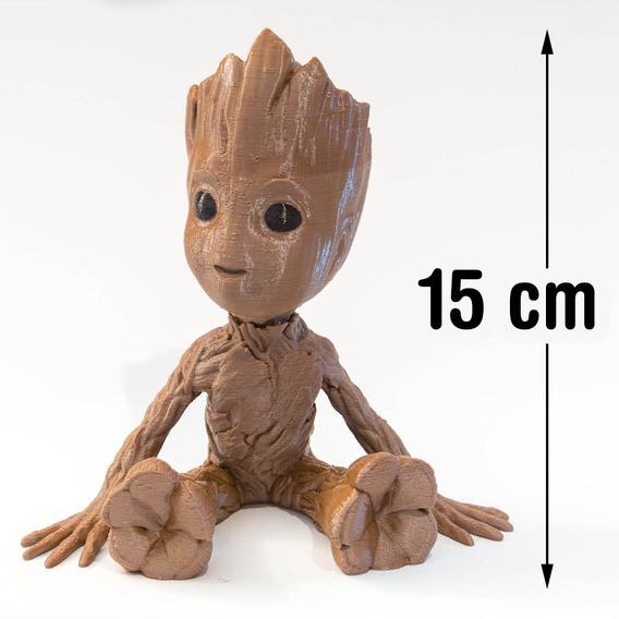 Boneco Baby Groot - Sentado Sorrindo -guardiões Das Galáxias