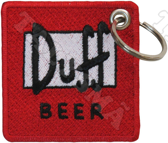 Chaveiro Bordado P/ Mala Bolsa - Simpsons Cerveja Duff Beer