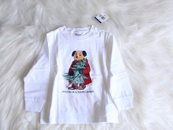 Camiseta Infantil Urso Menino Branca Polo Ralph Lauren