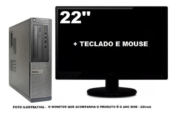Computador Dell Optiplex 390 Intel I3 4gb 120ssd - Semi Novo
