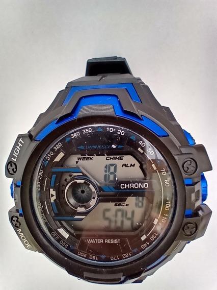 Relógio Masculino Digital Esportivo Azul Barato