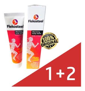 Flekosteel Balsamo 1+2 Para Dolor Múscular Y Articulaciones