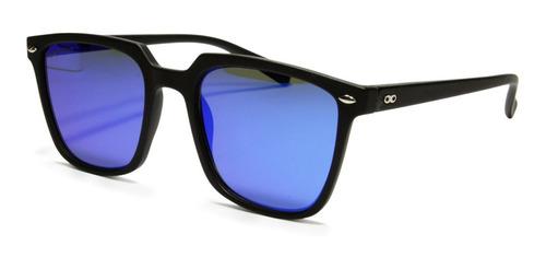 Anteojos De Sol Infinit Cozumel Negro Mate Lente Espejo Azul