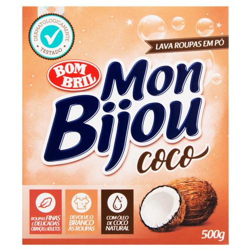 Sabão em pó Mon Bijou Coco caixa 500g