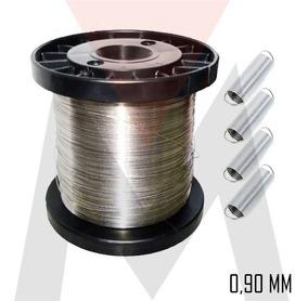 Fio Aço Cerca Eletrica Tipo Inox Bobina 0,90 Mm + Brinde