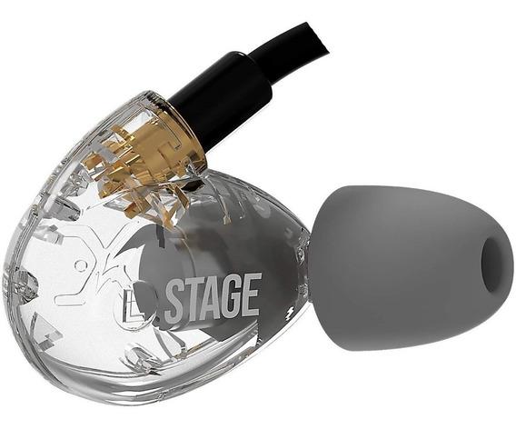 Fone De Ouvido In Ear Xtreme Stage Transparente - Original