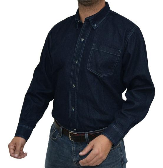 Camisa De Mezclilla Trabajo Industrial Uso Rudo
