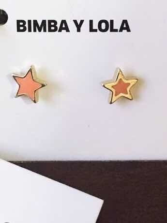 Aretes Bimba Y Lola ( Estrella Color Rosa )