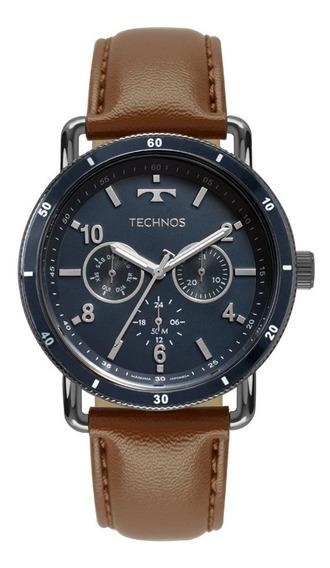 Relógio Technos Masculino Militar 6p29akt/2a Azul Couro