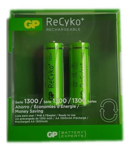 Baterias Pilas Aa Recargables Recyko 1300 Mah Gp Garantizada