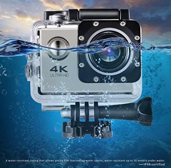 Câmera Action 4k Sport Go Cam Pro Ultrahd Wifi Prova Dágua