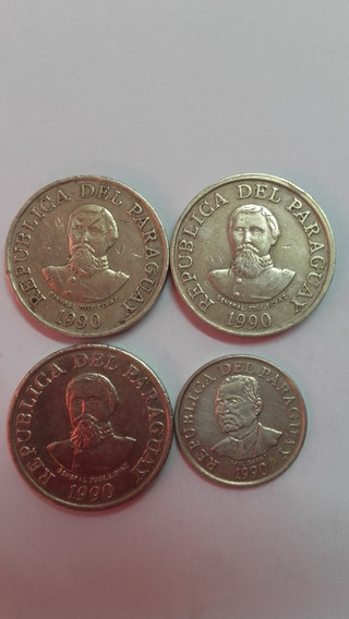 Monedas Paraguay 1992 50/100 Guaraníes Lote