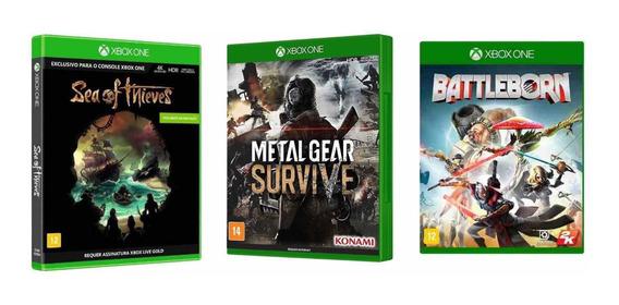 Kit Loucura 3 Jogos Xbox One Lacrados Originais Black Friday