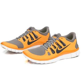 Tênis Nike Free 5.0 Laranja E Cinza