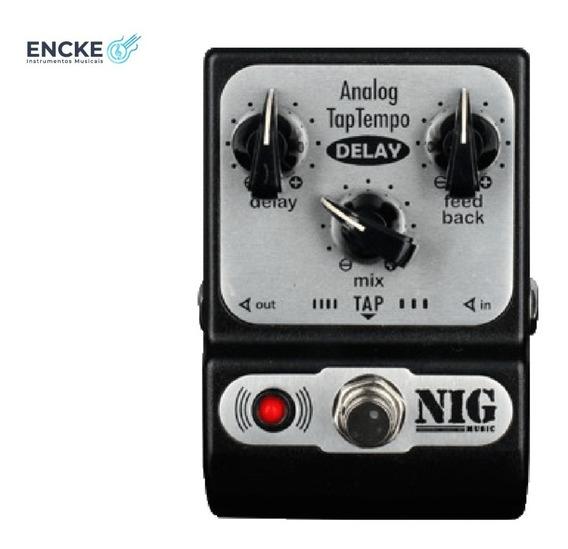 Pedal Nig Analog Tap Tempo Delay Padt - 2 Anos Garantia