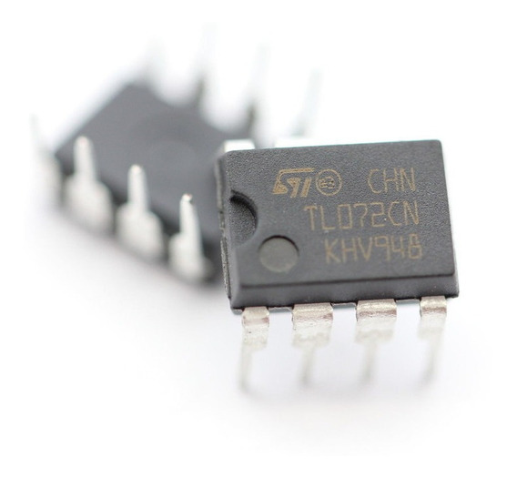 20 X Tl072cn Circuito Integrado St Amplificador Operacional