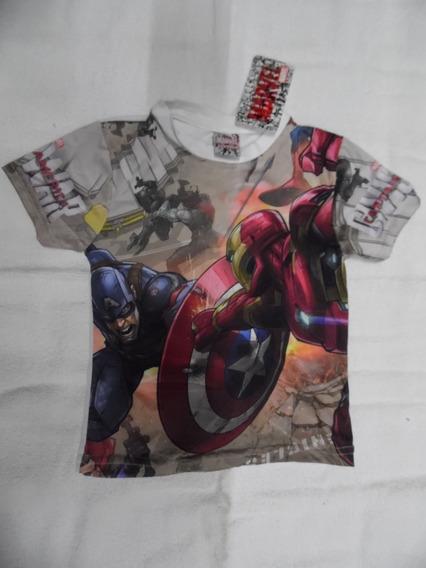 Playera Para Niño Con Diseño De Avengers