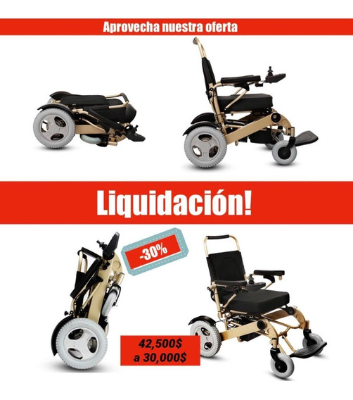 Silla De Ruedas Electrica Facil De Transportar Promocion