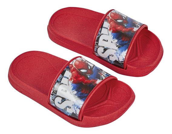 Zapato Sandalia De Baño Niño Diseño Spiderman Color Rojo