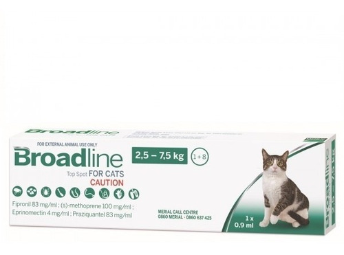 Imagen 1 de 2 de Broadline Pipeta Gato 2.5 -7.5kg Protege Interna Externa Tps