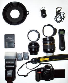 Nikon D5500 + Tamron 17/59 2.8+yongnuo 50 1.8 + Flash Oferta