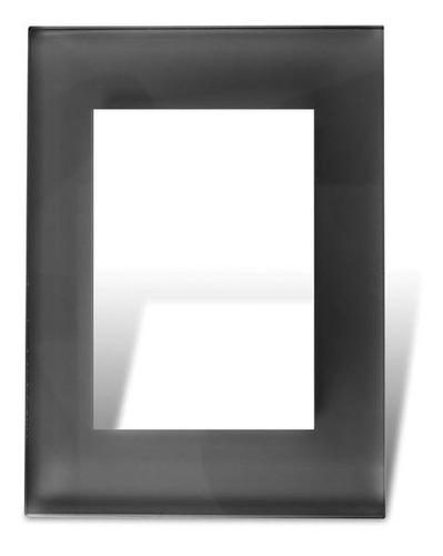 Tapa Y Distanciador Vidrio Negro