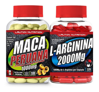 Kit Libido Testosterona Maca Peruana + Arginina 300 Cápsulas