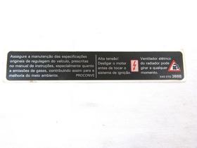 Adesivo Informação Advertencia Gol Saveiro W544 //