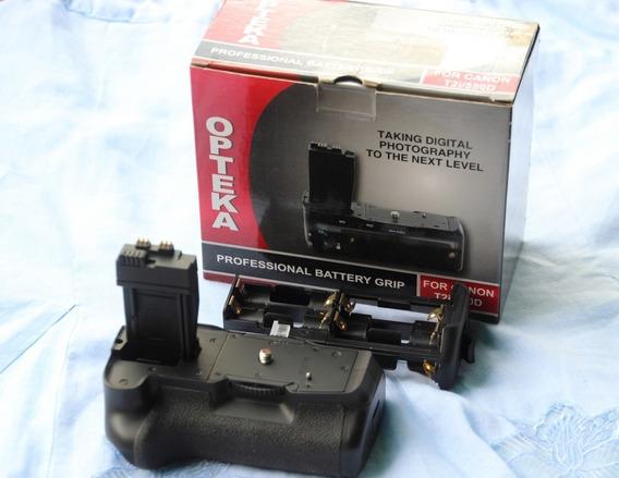 Batery Grip Opteka, Para Camara Canon T3i 600d + Accesorios