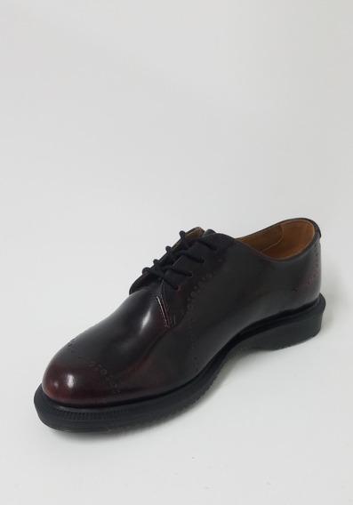 Zapato De Cordones Dr Martens Charol Cherry Red Bordo Mujer