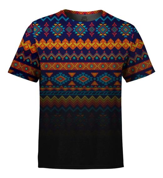 Camiseta Masculina Étnica Tribal Degradê Md02