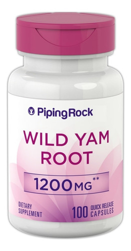 Wild Yam Root 1200mg 100cap Raíz Ñame Silvestre Salud Mujer