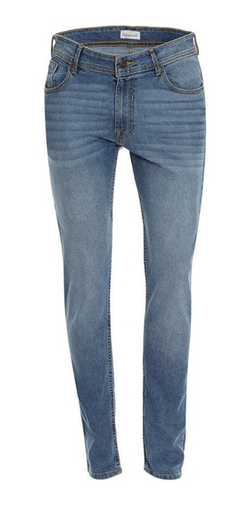 Jeans Corte Skinny Stretch De Hombre C&a Básicos