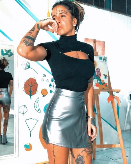 Top Remera De Algodon Con Lycra De Mujer Dama Art 6835