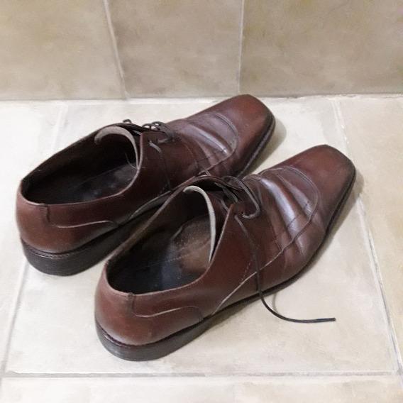Zapatos De Cuero Marrones De Hombre - Giorgio Beneti - N° 41
