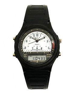 Reloj Hombre Ornet, Analogo Y Digital Vintage, Crono Alarma