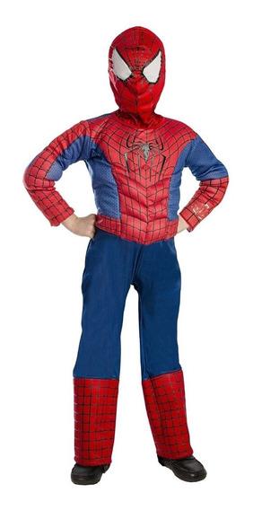 Disfraz Musculoso Spiderman Para Niño 6 Años Original Marvel