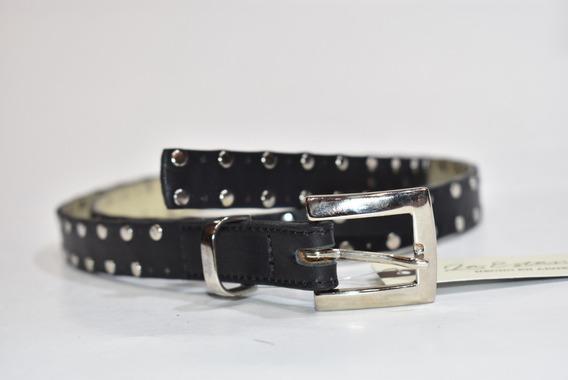 Cinturón Dama Cuero Vacuno Con Tachas