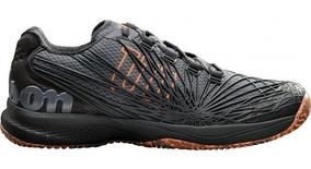 Tenis Wilson Kaos 2.0 Clay - Preto/laranja