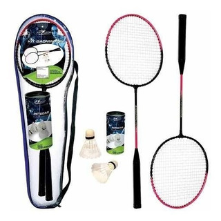 Kit 2 Raquetes Badminton Com 3 Petecas E Bolsa