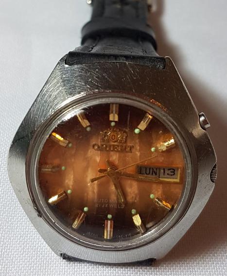 Relogio Vintage De Pulso Orient 21 Jls Automatic Caixa Aço