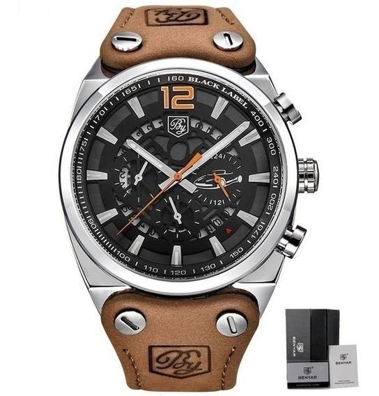 Relógio Benyar Johnnie Walker Funcional Laranja