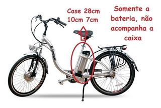 Bateria Bicicleta Elétrica Litio 36v 10ah Eleeze Pacote Azul